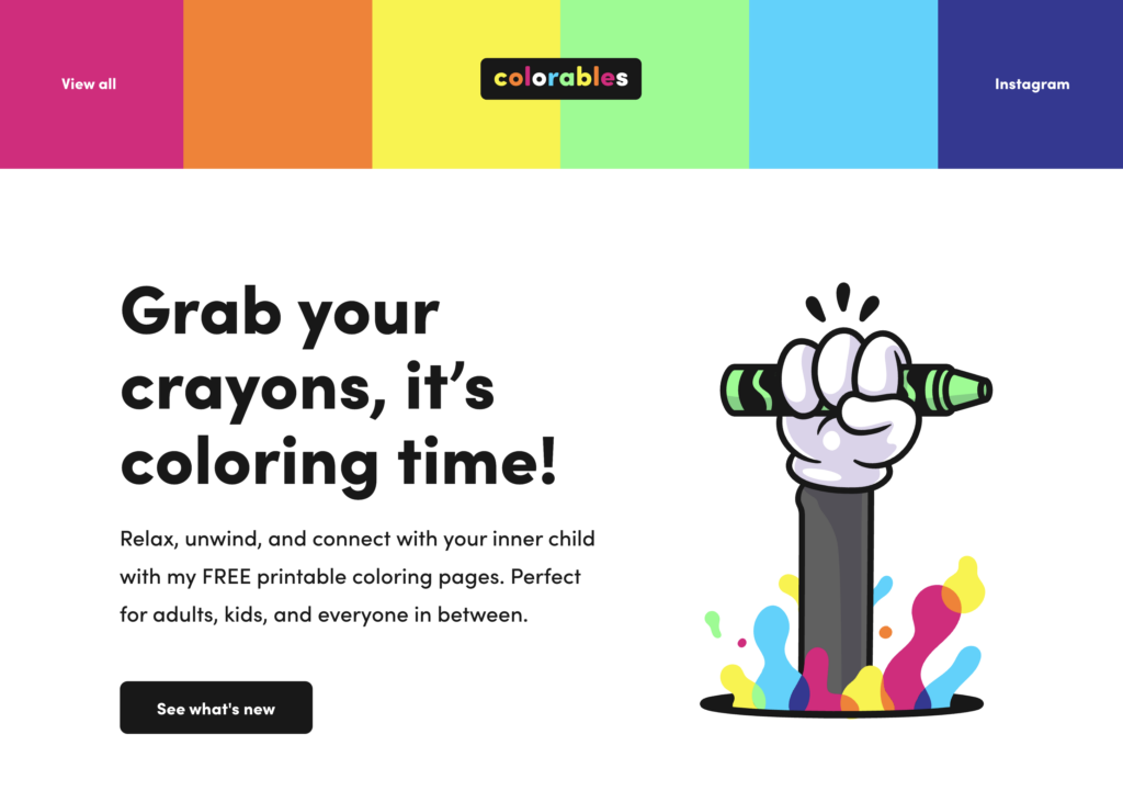 Take a mental with a few printables from colorables